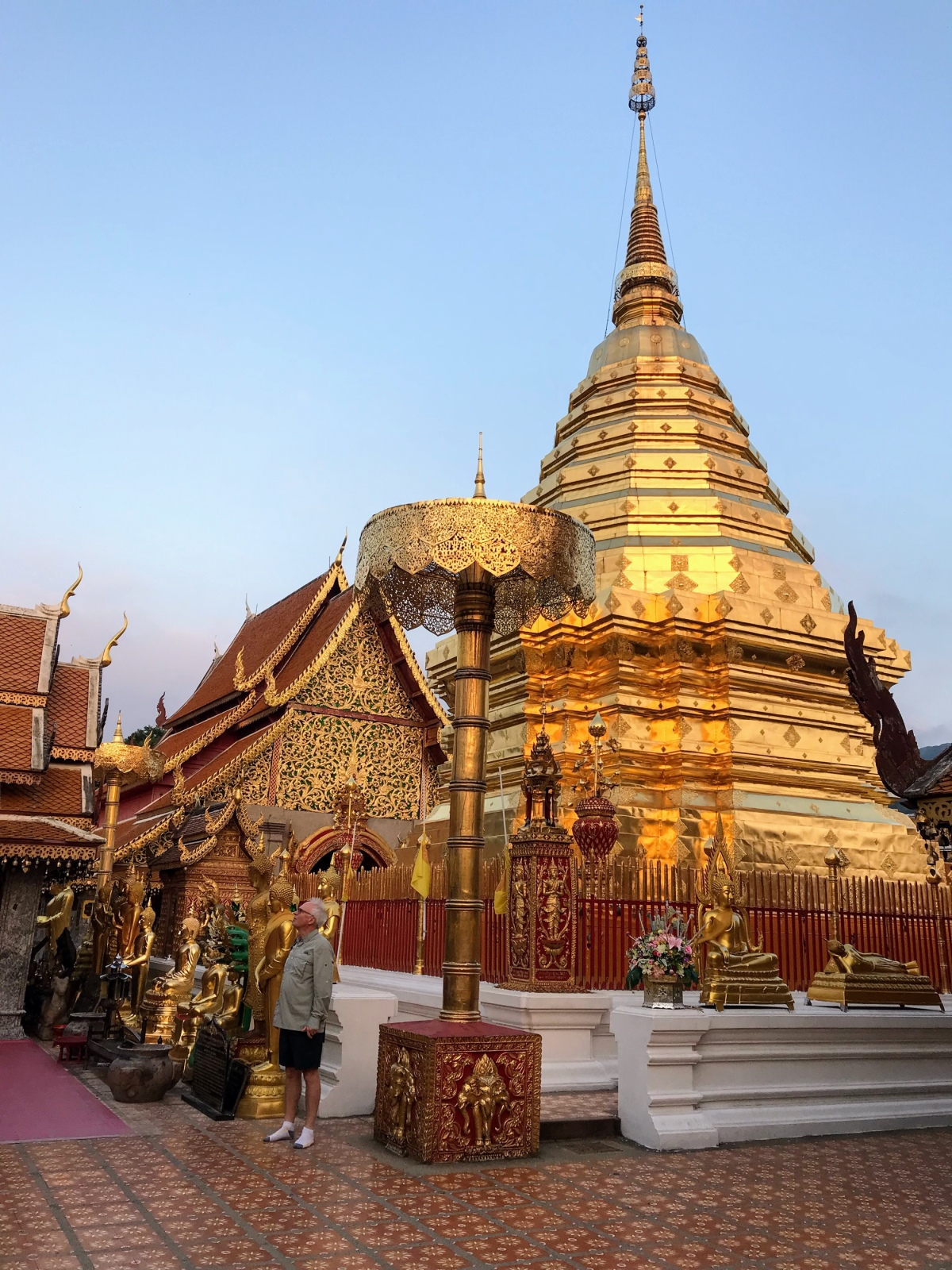 Sunrise at Wat Phra That Doi Suthep at the top of the Suthep Mountain —Chiang Mai