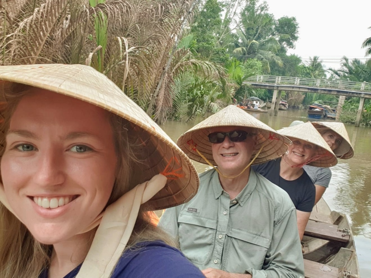 Lush Mekong Delta! Tuk Tuks and Sampans to Elephant Ear Fish!
